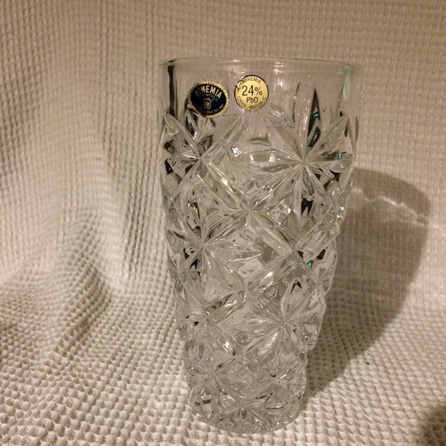 Bohemia Czech Republic 24 Lead Glass Crystal Vase Chairish