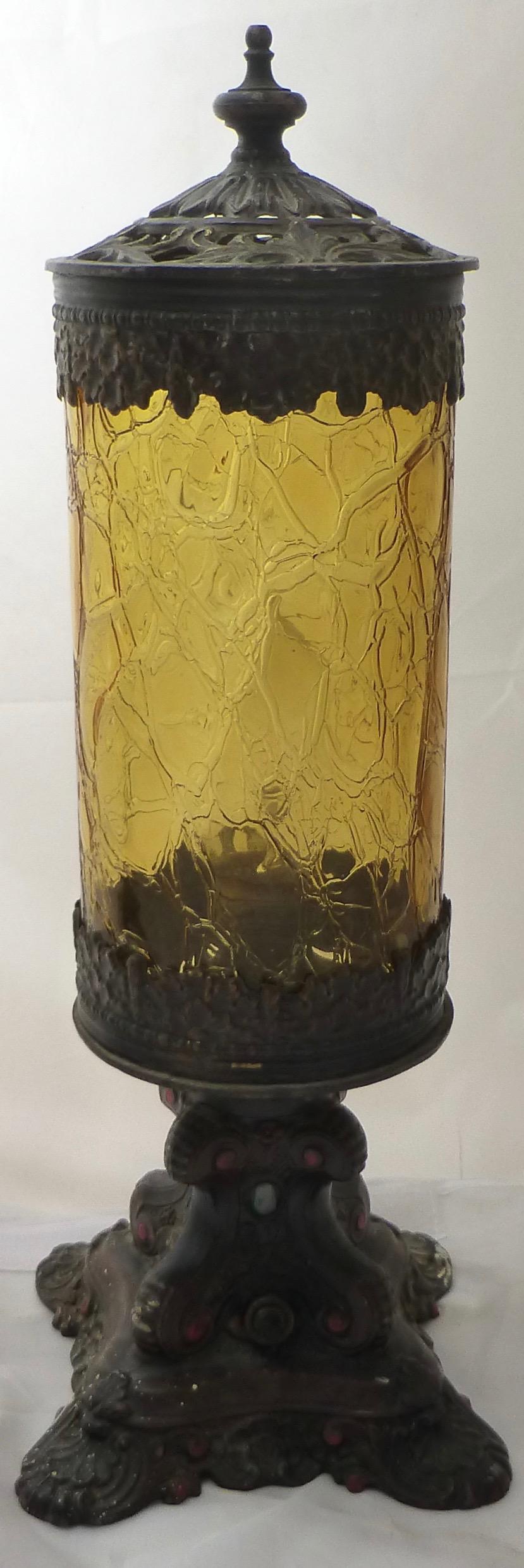 Antique Victorian Boudoir Lamps   A Pair   Image 3 Of 11
