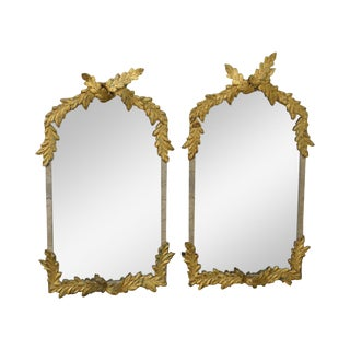 John Richard Ernest Hemingway Collection Pair of Gilt Metal Leaf Wall Mirrors
