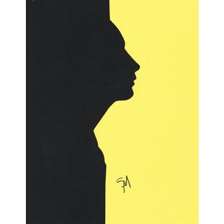"""""""Profile 2 - Yellow"""" Minimalist Collage by Sarah Myers For Sale"""