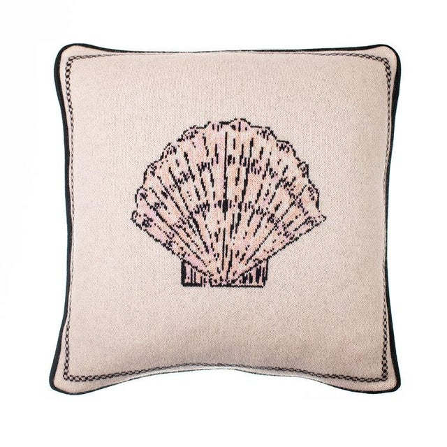 Contemporary Fee Greening - Scallop Shell Cashmere Pillow For Sale - Image 3 of 3