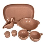 Image of 1950s Russel Wright Steubenville Pink Pottery Assortment - Set of 7 For Sale