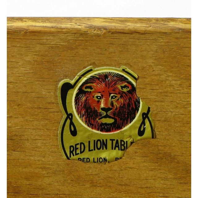 1950s Red Lion Parquetry Front Mahogany Nine-Drawer Dresser For Sale - Image 9 of 9