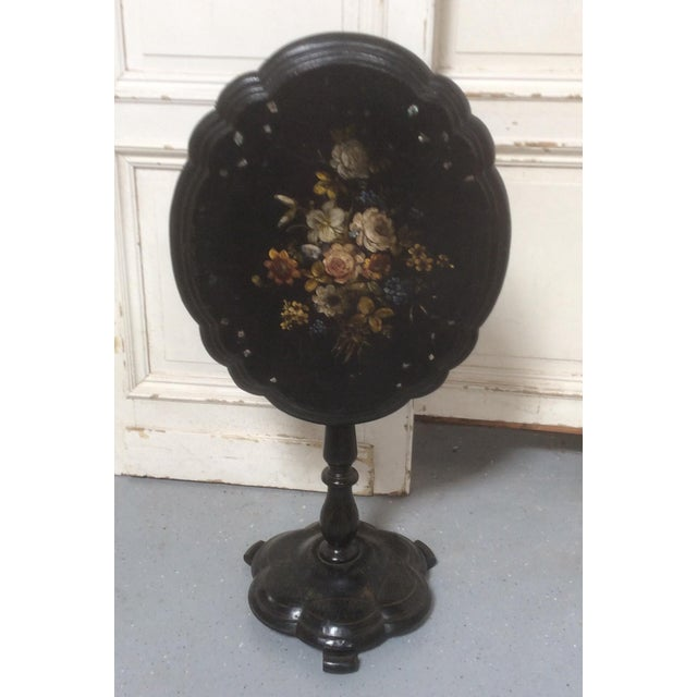 Traditional Antique Victorian Papier-Mâché Tilt Top Table For Sale - Image 3 of 13