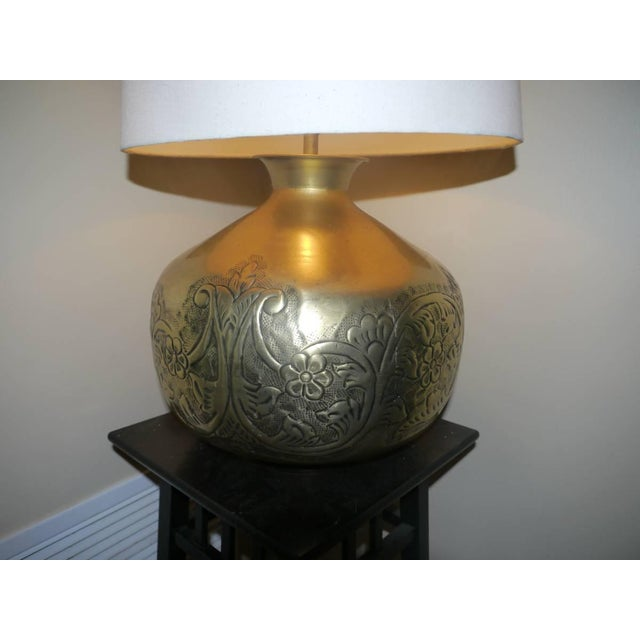 Brass Table Lamp - Image 3 of 3