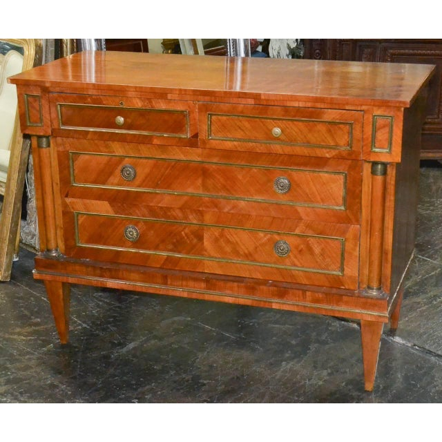 Handsome Continental Walnut Commode For Sale - Image 4 of 5