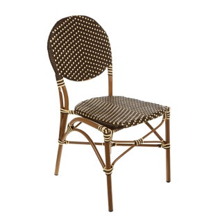 Brown & Cream Color Café Bistro Chair