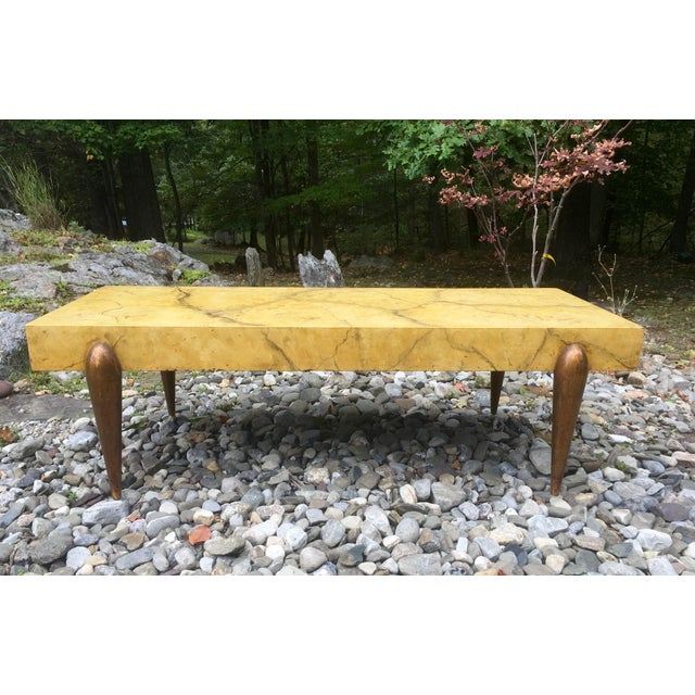 Mid Century Faux Marble Coffee Table - Image 6 of 7