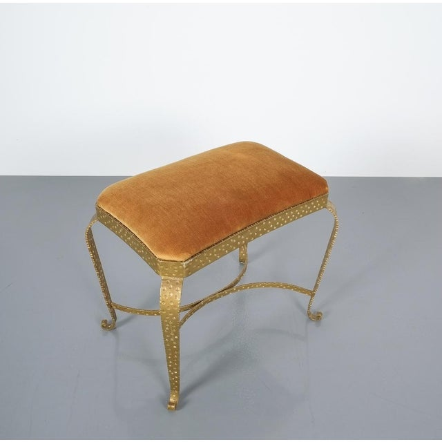 Gold Pair Golden Pier Luigi Colli Iron Bedroom Benches Italy, 1950 For Sale - Image 8 of 12