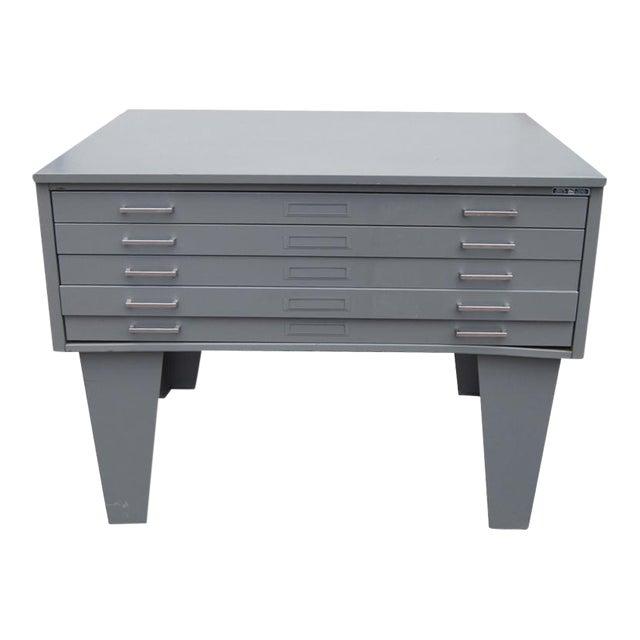 Vintage Metal Mayline Five Drawer Lateral Flat Filing Cabinet Image 1 Of 6