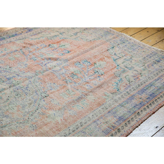 "Old New House Vintage Distressed Oushak Carpet - 6'2"" X 9'8"" For Sale - Image 4 of 13"