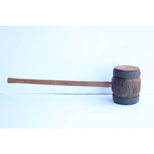 Giant Antique Circus Carnival Mallet For Strongman game. We have more mallets available.