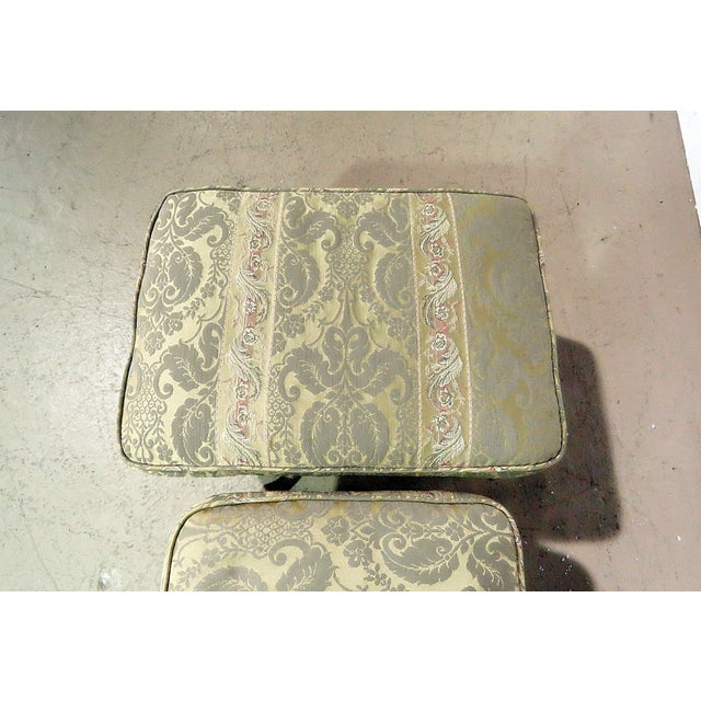 Early 20th Century Pair of Louis XV Style Benches For Sale - Image 5 of 6