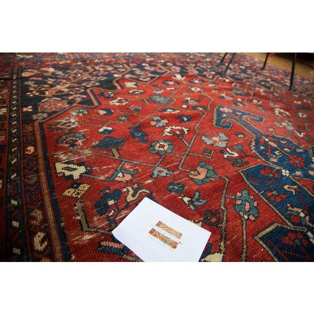 "Vintage Distressed Bakhtiari Carpet - 8'7"" X 11'8"" - Image 9 of 10"