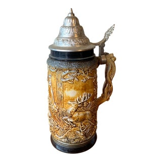 German Beer Stein Marked Wasterr For Sale