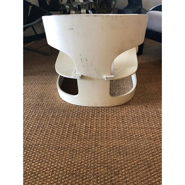"""White Original Vintage Joe Colombo """"4801"""" Armchair, Made in Italy by Kartell For Sale - Image 8 of 9"""