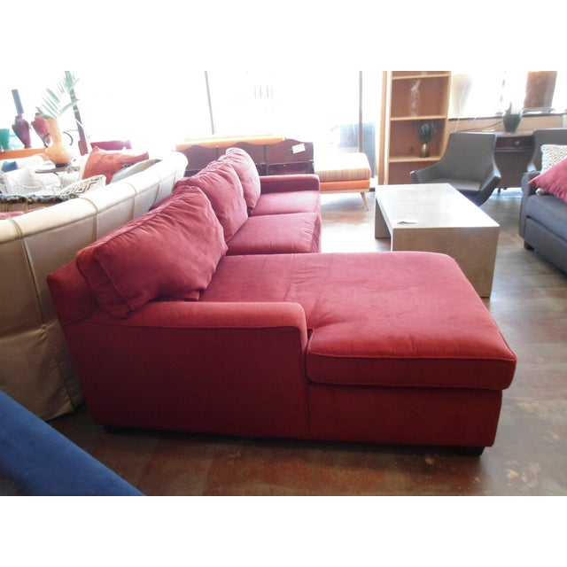 Mitchell Gold + Bob Williams Red Fabric Sectional Sofa | Chairish