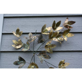 1969 Curtis Jere Mid Century Modern Metal Wall Sculpture Leafs, Signed Preview