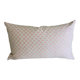 "Fortuny ""Canestrelli"" Powder Pink and White Pillow For Sale"