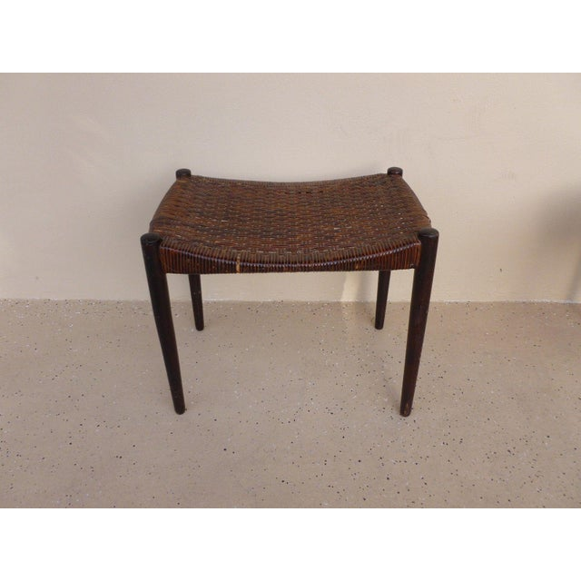 Rare original danish modern a bender Madsen / Ejner Larsen bench for willy beck measuring 22 inches long x 16 inches wide...