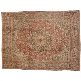 Haji Khalili Persian Tabriz Area Rug with Art Nouveau Style in Soft Colors Preview