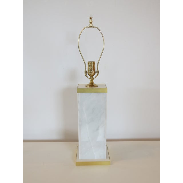 Custom Marble and Brass Lamp by C. Damien Fox - Image 2 of 9