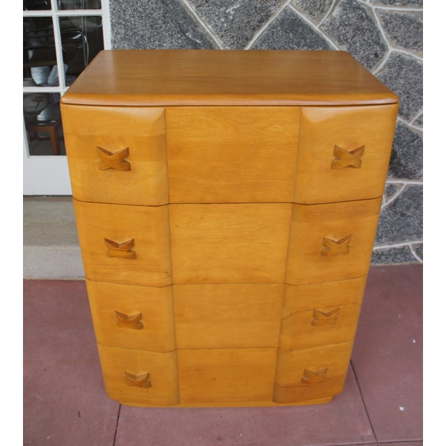 Heywood Wakefield Rio Champagne Maple Dresser For Sale - Image 5 of 11