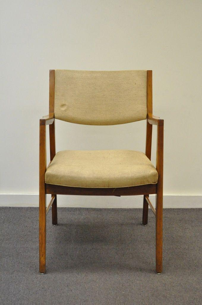 Vintage Mid Century Modern Walnut Office Desk Arm Chair Danish Style  Gunlocke   Image 2 Of