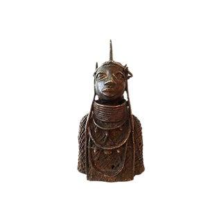 Oba Nigeria Benin Bronze Figure