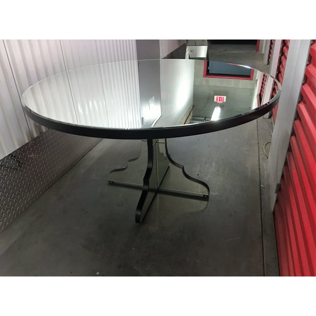 Round Beveled Mirror Dining/Entryway Table - Image 8 of 11
