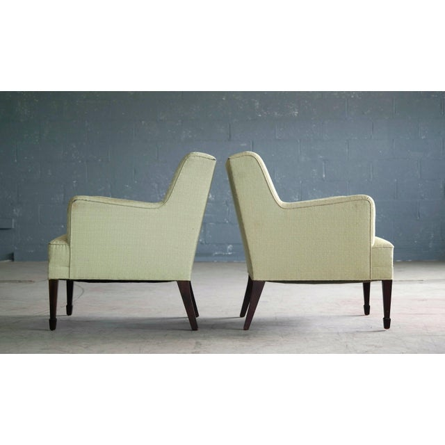 Mid-Century Modern Danish Mid-Century Pair of Lounge Chairs by Frits Henningsen For Sale - Image 3 of 8