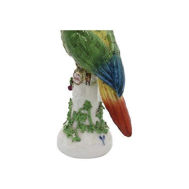 19th Century Antique French Paris Porcelain Parrot For Sale - Image 4 of 7