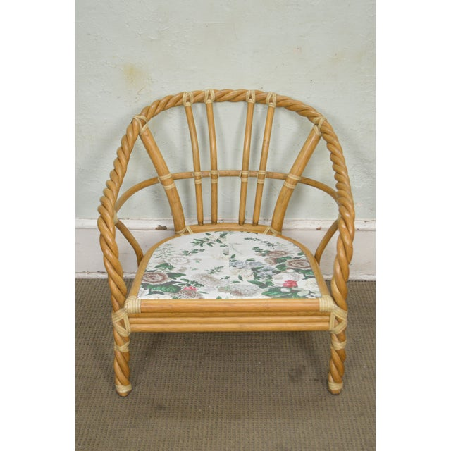 McGuire of San Francisco Twisted Rattan Lounge Chair For Sale In Philadelphia - Image 6 of 13