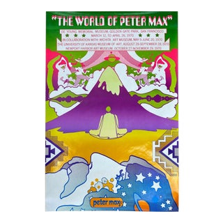 "Peter Max ""The World of Peter Max"" Museum Exhibition Serigraph Poster 'A', 1969 For Sale"