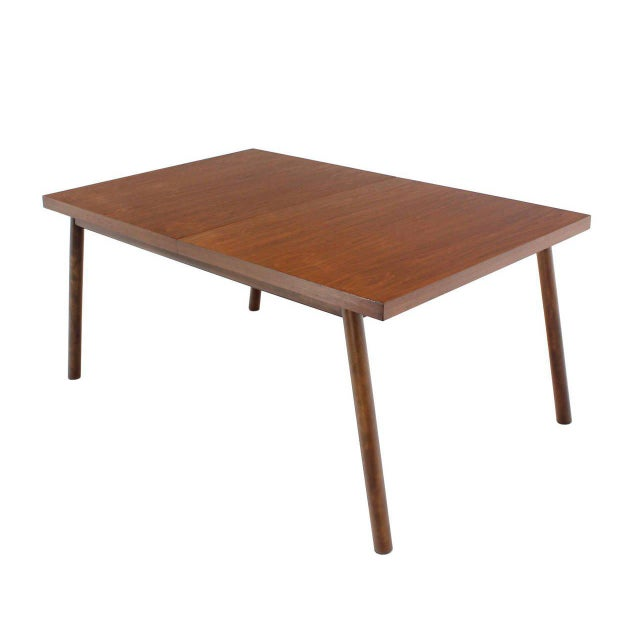 Mid-Century Modern Robsjohn Gibbings Walnut Extention Dining Table with Two Leaves For Sale - Image 3 of 7