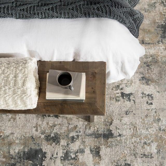 """Jaipur Living Lynne Abstract White Gray Runner Rug 2'6""""X8' For Sale - Image 9 of 12"""