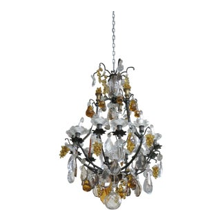 Louis XV Style Crystal Bird Cage Chandelier For Sale