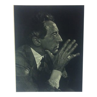 "Black & White Print on Paper, ""Jean Cocteau"" by Yousuf Karsh, 1967 For Sale"
