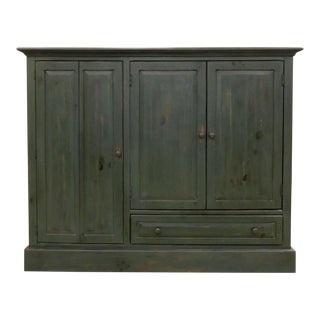 Habersham Moss Green Solid Pine Media Chest Cabinet For Sale