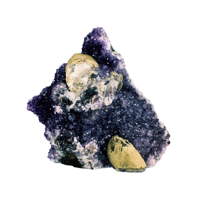 Contemporary Amethyst Calcite Cathedral Decorative Piece For Sale