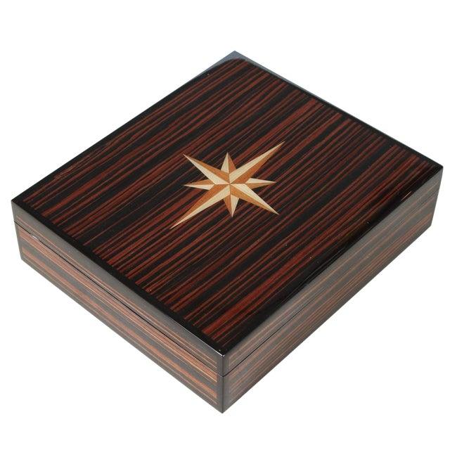 Macassar Lidded Box For Sale