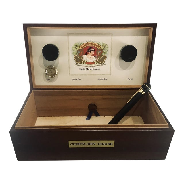 1980s Traditional Cuesta-Rey Cigar Humidor For Sale