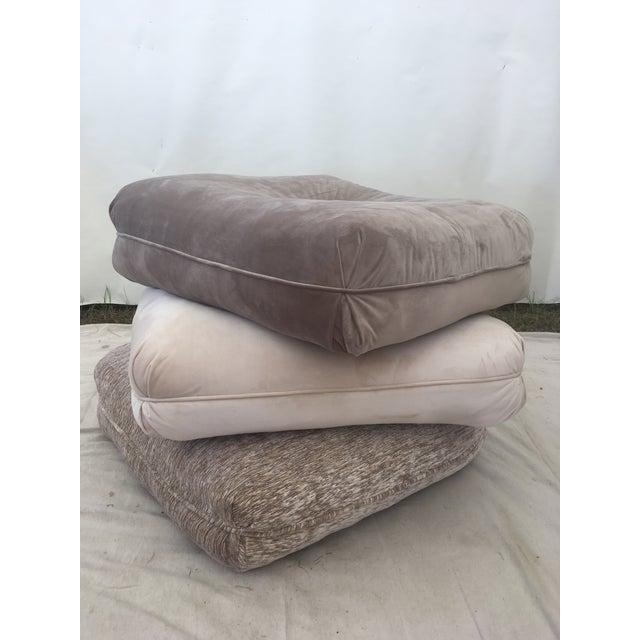 Velvet Pillow Stools - Set of 3 For Sale - Image 9 of 9