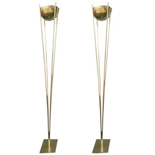 Brass Torchères-A Pair For Sale