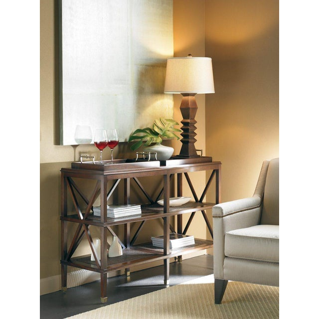 Contemporary Southampton Tiered Tray Console from Kenneth Ludwig Chicago For Sale - Image 3 of 4