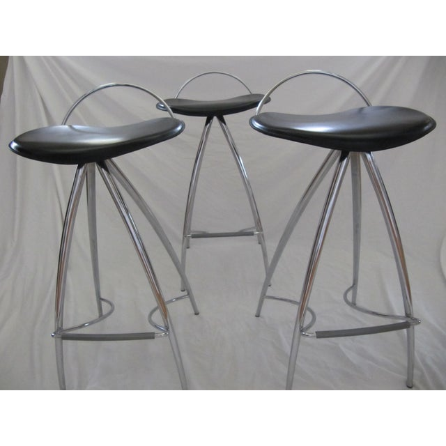 Cattelan Italian Leather Counter Stools- Set of 3 - Image 3 of 9
