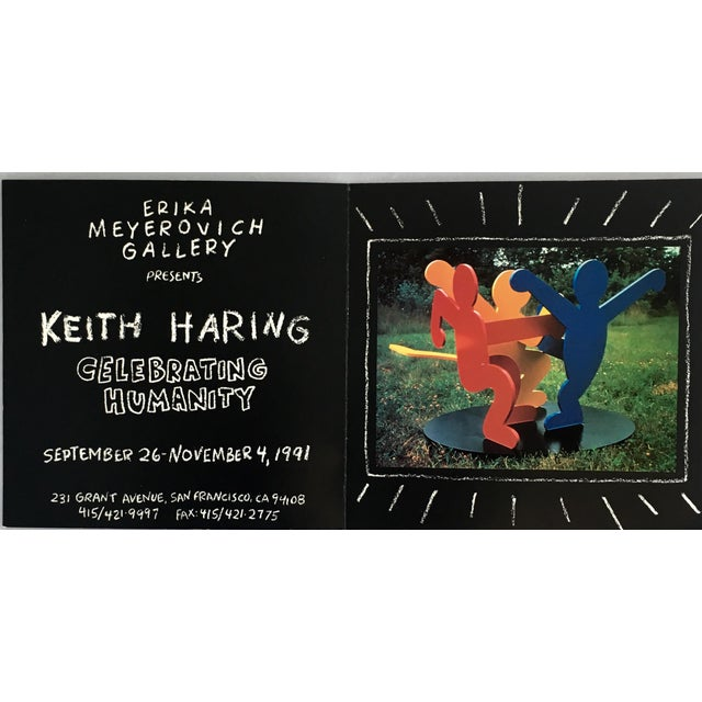 Keith Haring Keith Haring Pop Art Announcement 1991 For Sale - Image 4 of 5