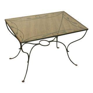 Salterini Wrought Iron Vintage Patio, Garden Dining Table For Sale