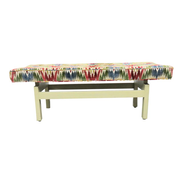 Groovy Mid Century Modern Floating Seat Bench Bralicious Painted Fabric Chair Ideas Braliciousco