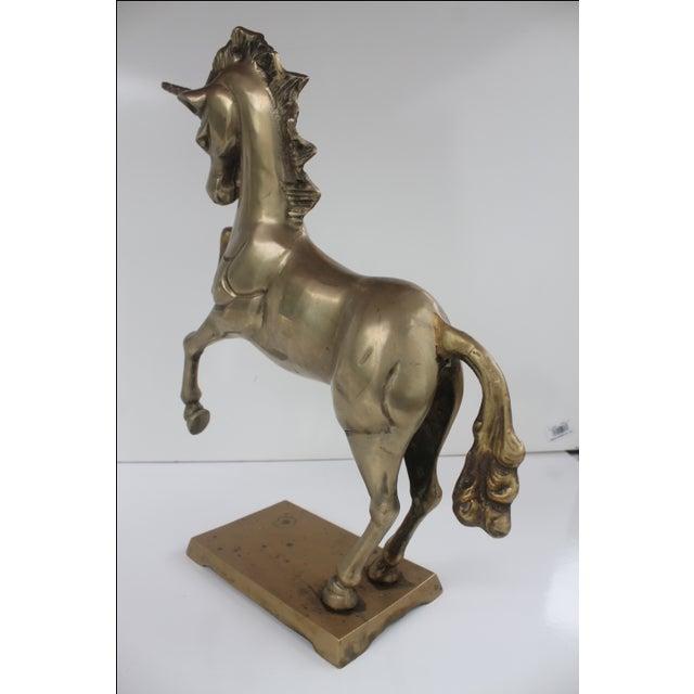 1970s Regency Solid Brass Unicorn Sculpture - Image 5 of 8
